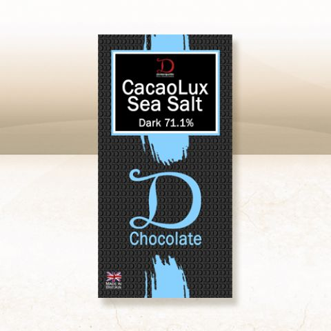 Demarquette Luxury 71.1% CacaoLux Dark Chocolate House Blend Bar with Sea Salt